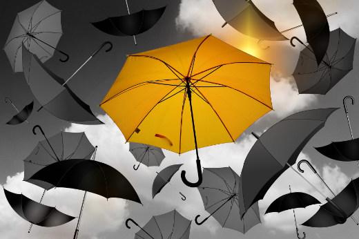 Einen Regenschirm für Sie